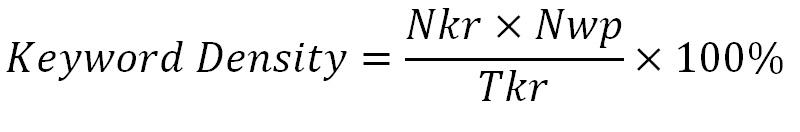 mật độ từ khóa công cụ seo tối ưu